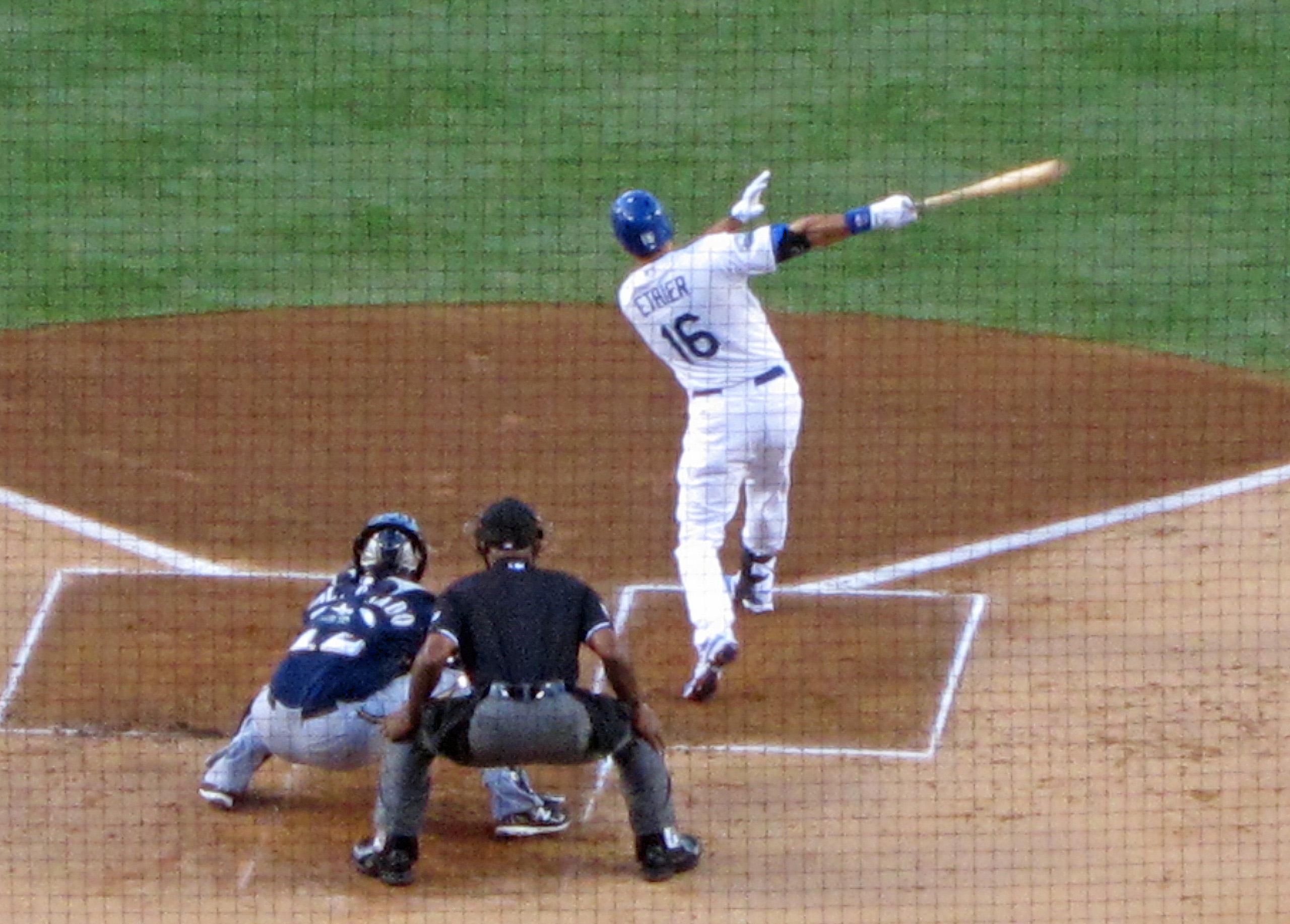 Overshadowed by Matt Kemp, Andre Ethier is putting up MVP numbers of his own. Ethier knocked in Kemp from first base with this double to right/center to collect his NL leading 44th RBI. Unfortunately, this is also when Kemp re-injured his left hamstring which landed him back on the DL.