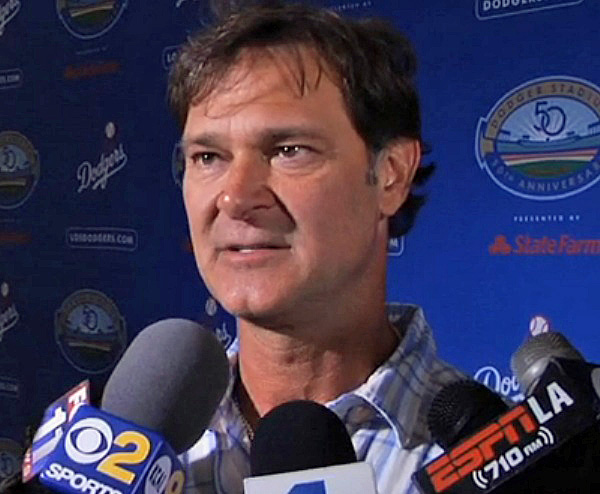 "Dodgers manager Don Mattingly is not a big fan of saying ""It's still early."" (Video capture courtesy of Dodgers Media Network)"