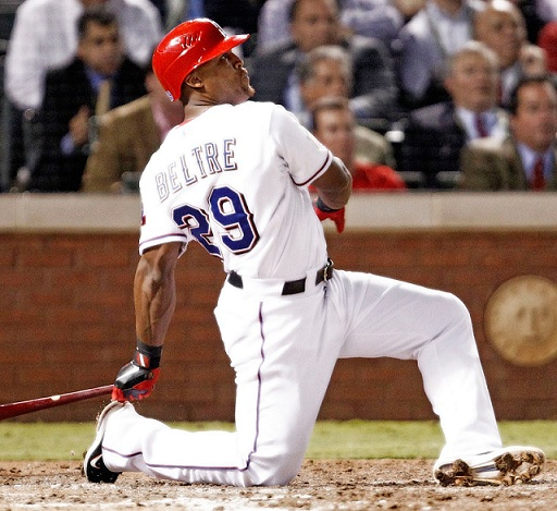 Adrian Beltre is still exciting to watch, but he will soon be 34 years old and his numbers are most likely going to start to decline. (Photo credit - Ron Jenkins).