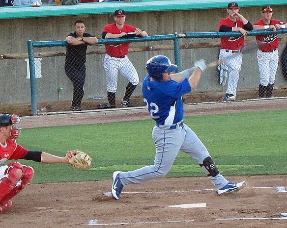 Retherford had an outstanding first half of the 2012 season with the Quakes, hitting 20 home runs and earning a berth on the Cal League All-Star team. He was also named the Quakes Dodger Pride winner in June 2012. (Photo credit - Ron Cervenka)