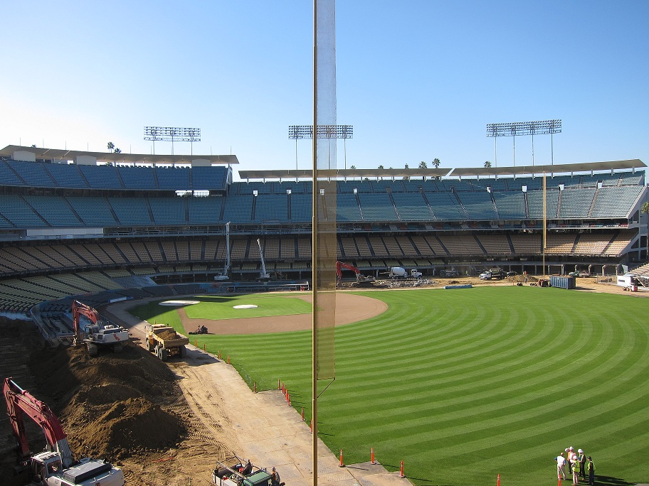 Field Level seats had to be completely removed to allow  access to the clubhouses. Kasten assures fans that the seats will be put back exactly as they were when construction is complete. (Photo credit - Ron Cervenka)