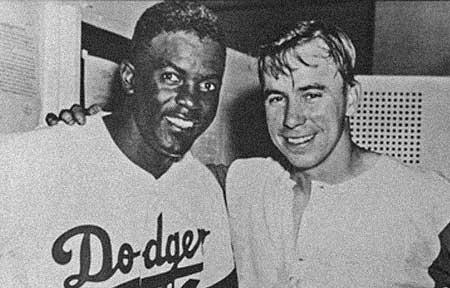 Jackie Robinson and PeeWee Reese