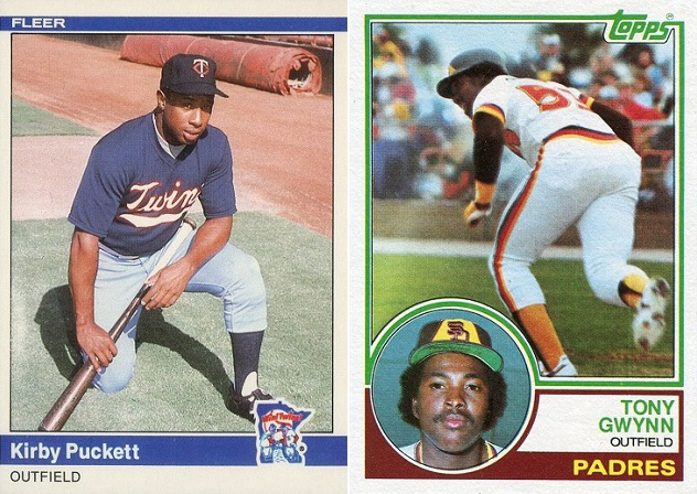 Jamie and I were elated when Kirby Puckett and Tony Gwynn were inducted into the Hall of Fame in 2001 and 2007 respectively. Having bought many of their cards over the years, it almost felt as though we helped them get there.
