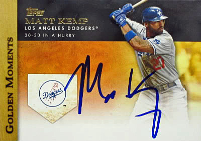 Although it's always nice to buy an autographed card, nothing beats the thrill of getting your cards personally autographed, as ThinkBlueLA's Ron Cervenka did with this Matt Kemp card during spring training 2012.