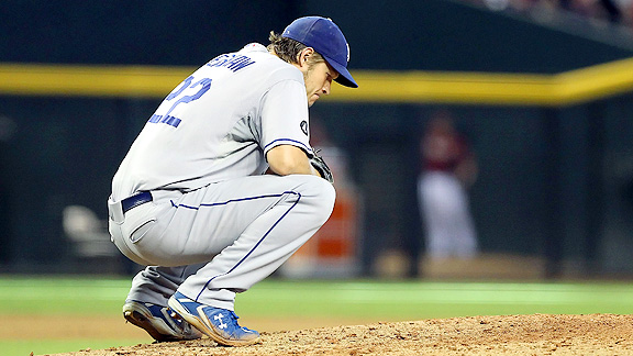 Could there be more to the Hyun-jin Ryu and Zack Greinke signings that only concerns about Chad Billingsley and Ted Lilly - like maybe Clayton Kershaw's hip? (Photo credit - Christian Petersen)