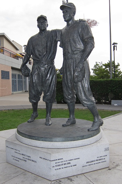 This statue located in Brooklyn, New York is a representation of what is arguably the greatest moment in baseball history. (Photo credit - Ron Cervenka)