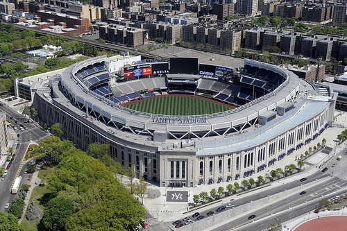 It's hard to believe that in their 130-year history, the Dodgers have never played a regular series at Yankee Stadium - old or new. (Photo courtesy of stadiumtravelguide.com)