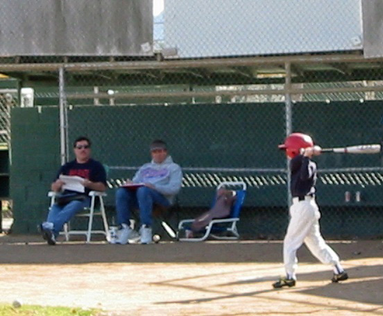 Much like his father, young Tim Cervenka knew a lot about baseball except how to hit one.(Photo credit - Ron Cervenka)