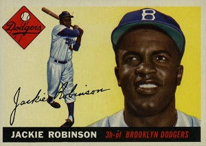 The 1955 Jackie Robinson card I got at a flee market was an original, not a reprint.