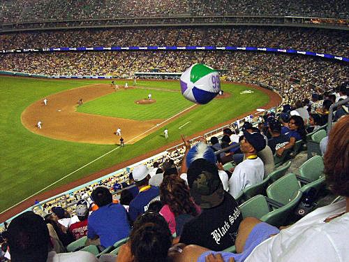 Most people go to Dodger games because they are fans, others for social reasons, and a few to show how stupid they are. Photo courtesy of lockerroomblog.blogspot.com)
