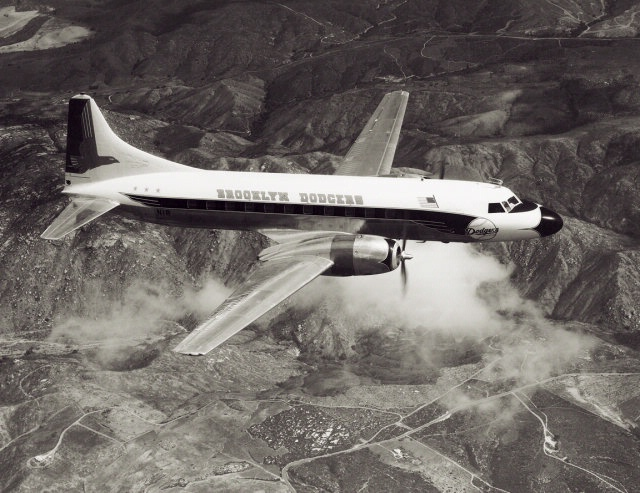 The Dodgers used this Convair 440 from 1957 through 1961. (Photo courtesy of National Air and Space Museum)