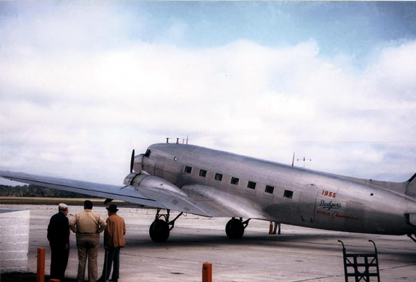 Legend has it that Bud Holman won this DC-3 from Eastern Airlines in a crap game and gave it to Walter O'Malley. (Photo courtesy of walteromalley.com)