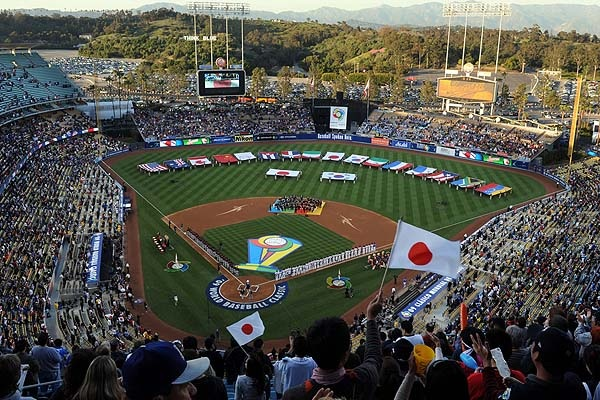 The 2009 World Baseball Classic semi-final and final rounds were held at Dodger Stadium. It was a very exciting time, especially with Team USA i the semi-finals. (Photo credit - Kirby Lee)