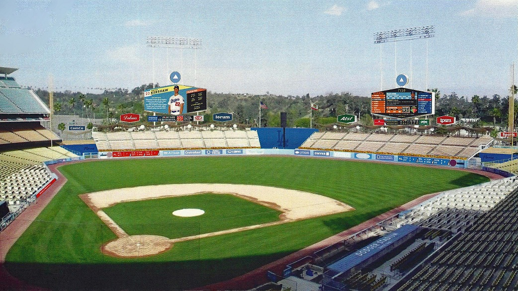 This artist rendition of the new video scoreboards shows that you can move into the future while maintain the rich history of Dodger Stadium. (Click on photo to enlarge)
