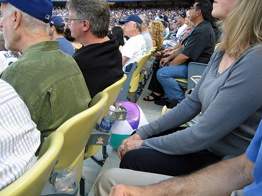 Some fans actually go to Dodger games to watch the game and refuse to participate in silly little beach ball games. Photo credit - sonsofstevegarvey.com)