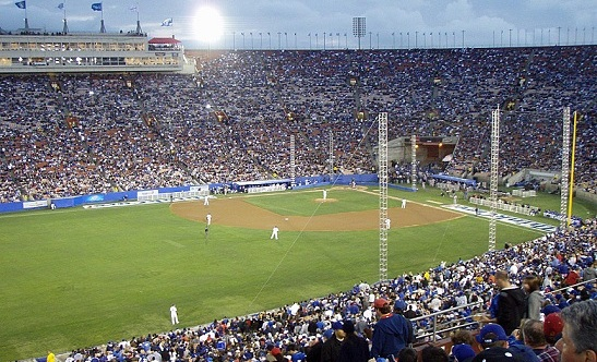 ...and here is the L.A. Memorial Coliseum for the 50th anniversary game.(Photo credit - Ron Cervenka)