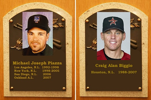 2013 ThinkBlueLA People's Choice Hall of Fame Inductees Mike Piazza and Craig Biggio