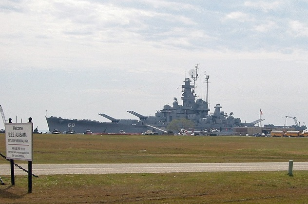 The USS Alabama sits proudly at Battleship Memorial Park in Mobile, Alabama.(Photo credit - Ron Cervenka)
