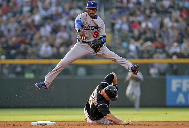Dee Gordon's future as a Dodger could very well be determined in the next six weeks. (Photo credit - Doug Pensinger)
