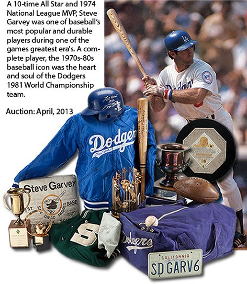 Is Steve Garvey selling off his incredible collection because he needs the money, or because he has come to grips with the fact that life goes on? We may never know for sure. (Photo courtesy of auctionreport.com)