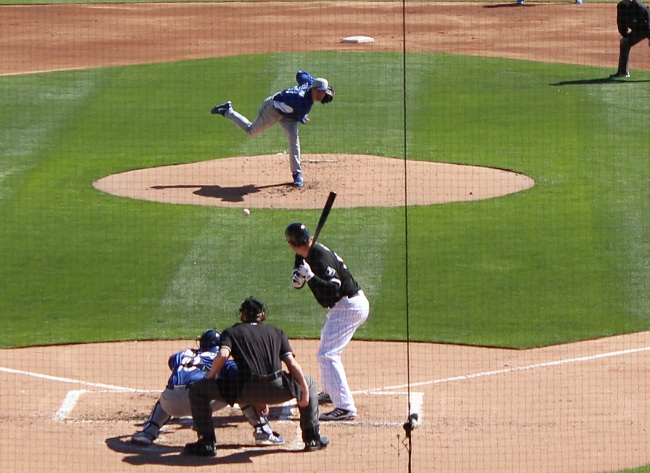 Zach Greinke allowed only one hit wwhile striking out 2 in his 2 innings of work on Sunday. (Photo credit - Ron Cervenka)