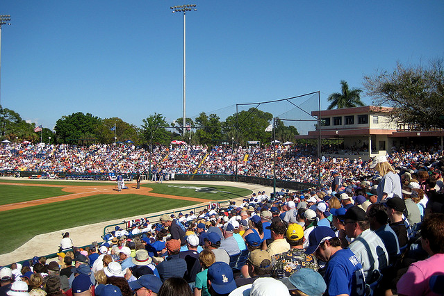 Holman Stadium was the spring training home of the Dodgers from 1948-2008. (Photo credit - Wally Gobetz)