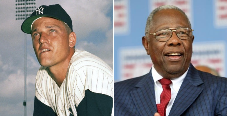 Roger Maris and Henry Aaron are the two biggest victims of the Steroid Era. (Photo credit - AP and Bill Greenblatt)