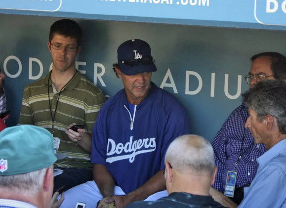 Dodger manager Don Mattingly insists that not being offer a contract extension will not be a distraction to his team. (Photo credit - Garrett Nichols)
