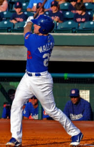 Matt Wallach, son of Dodgers third base coach Tim Wallach will report to big league camp later today to replace Alfonso. (Photo credit - Tim Evearitt)