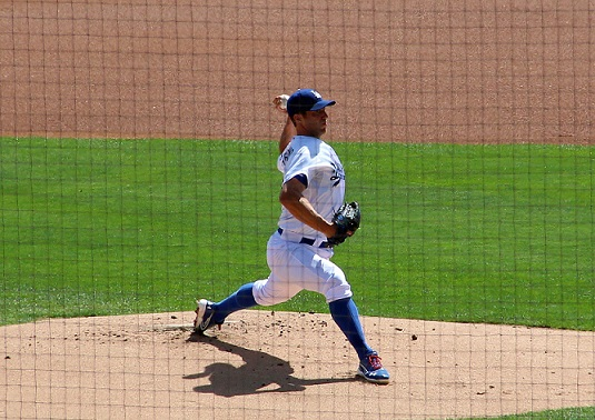 Capuano was outstanding in his 5.2 innings of work on Tuesday against the A's. (Photo credit - Ron Cervenka)