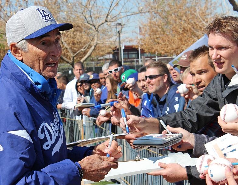 Bringing Dodger legend and Hall of Famer Sandy Koufax back into the Dodger family was one of the best moves by new ownership. (Photo credit - Ron Cervenka)