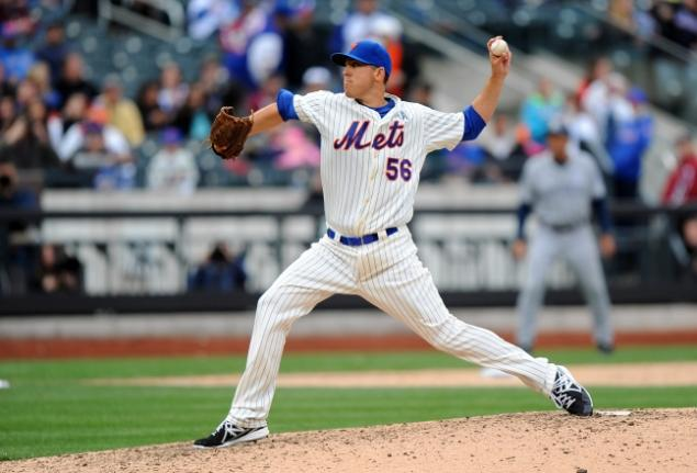 Rice's lifelong dream came true when he appeared in a major league game on opening day with the Mets. (Photo credit - Robert Sabo)