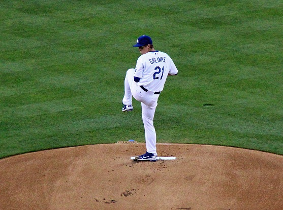 Zack Greinke about to deliver a message. (Photo credit - Ron Cervenka)