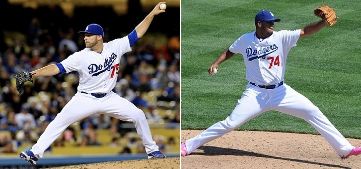 Paco Rodriguez and Kenley Jansen are far better choices to be the Dodgers set-up man and closer than Ronald Belisario and Brandon League. Photo credit - Jon SooHoo & Stephen Dunn)