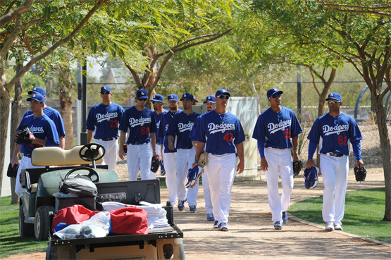 Expectations were high for the Dodgers during spring training 2013 - perhaps too high. (Photo credit - Jon SooHoo)