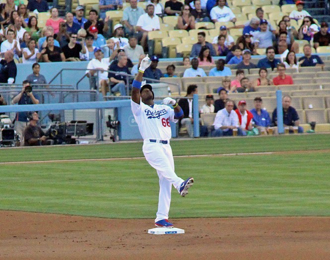 ...helps Yasiel Puig do this, then keep on doing it! (Submitted by Ron Cervenka on 6-26-13)