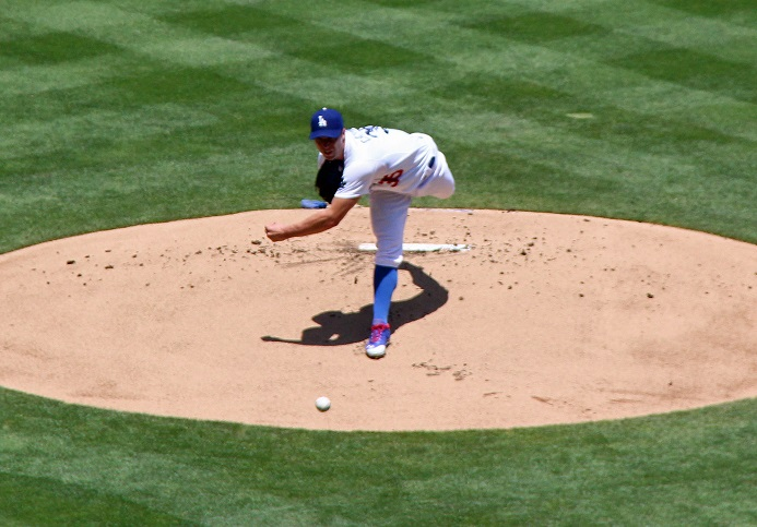 In his two seasons with the Dodgers, left-hander Chris Capuano was either very very good or very very bad... or injured. (Photo credit - Ron Cervenka)