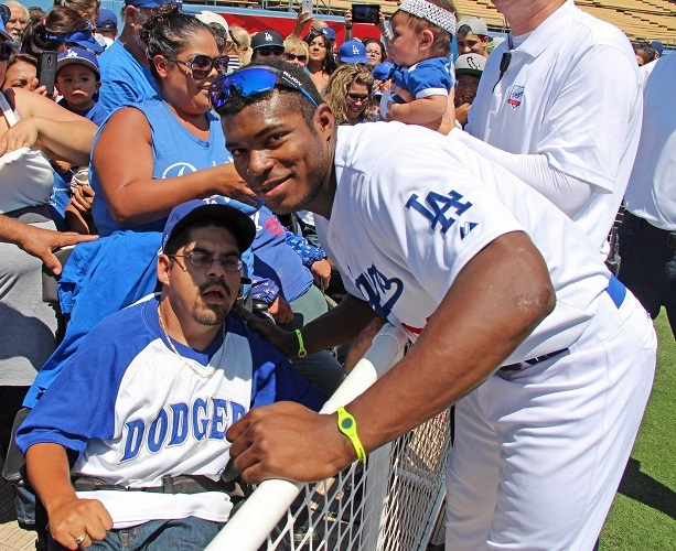 Alex Solis Jr. couldn't believe that he got to meet his favorite Dodger Yasiel Puig. Little did he know, things were about to get better for him.