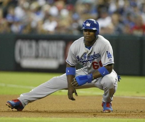 If Puig begins taking pitches  that are out of the zone, pitchers will have to throw strikes to him. (Photo credit - )