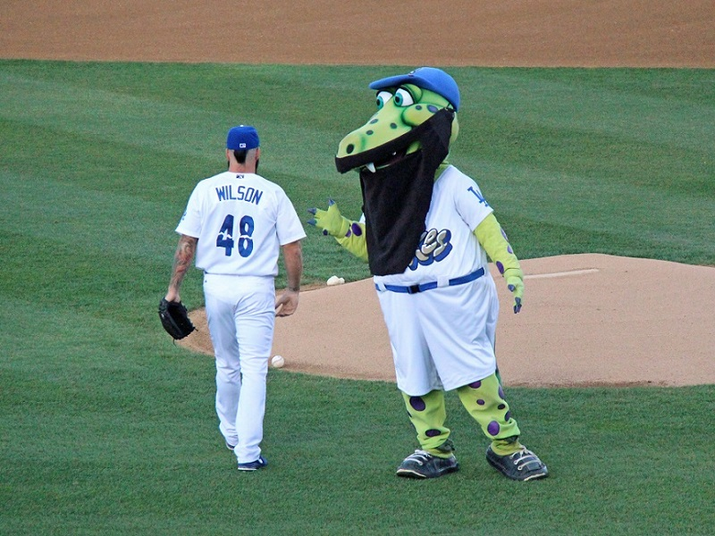 Wilson was being rude to Quakes mascot Tremor, he was simply focused on his work.