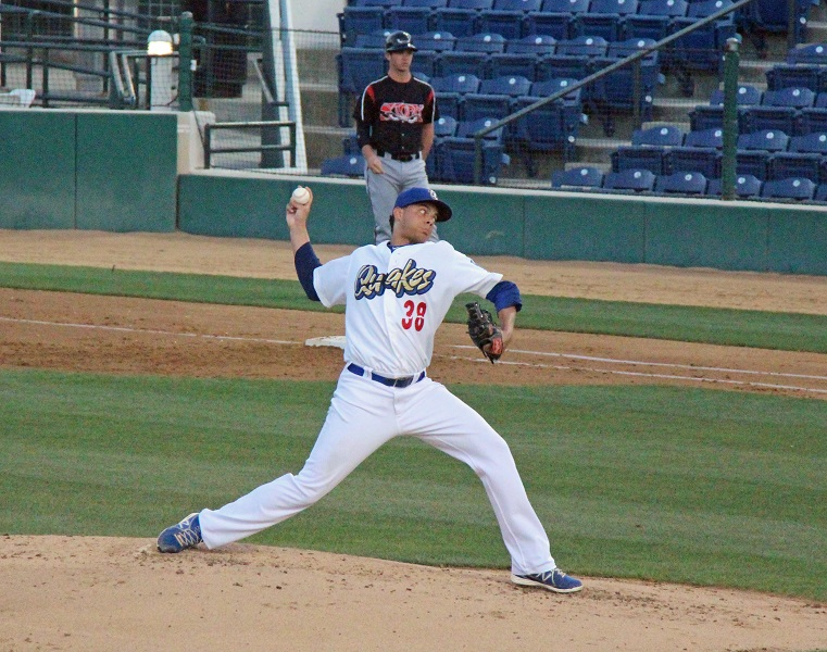 Lost in the Brian Wilson hoopla was the fact that Quakes RHP  Freddie Cabrera came on and pitched 5 innings of no-hit baseball, allowing only one unearned run on 4 walks while striking out 5.