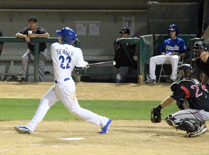 Although 19-year-old Corey Seager excelled with the Low-A Great Lakes Loons, he struggled with the High-A Rancho Cucamonga Quakes - much to Colletti's liking. (Photo credit - Ron Cervenka)