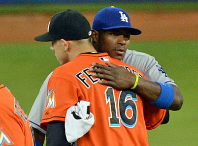 Cuban natives Jose Fernandez and Yasiel Puig were MLB's 2013 Rookie of the Year and runner-up. (Photo credit - Jon SooHoo)