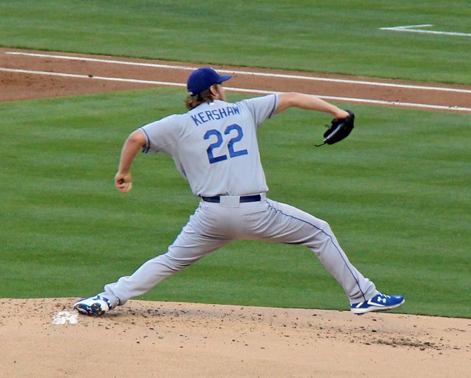 Kershaw all but guaranteed himself the 2013 NL Cy Young Award on Saturday evening with his dominating performance against the Padres. (Photo credit - Ron Cervenka)