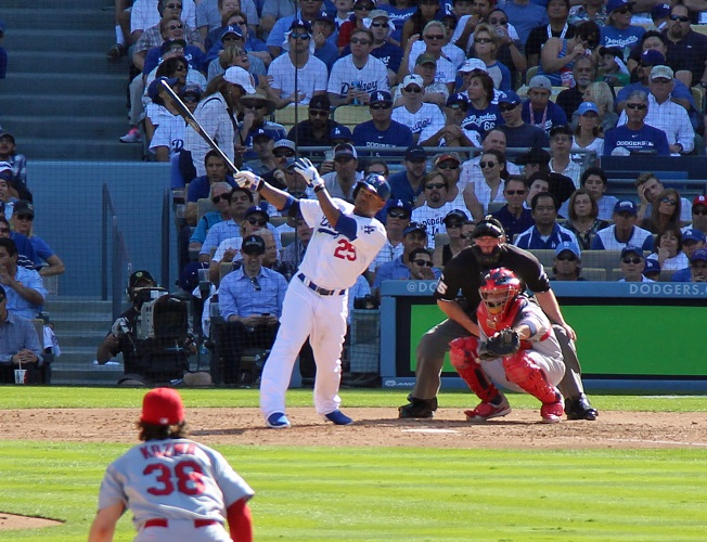 Carl Crawford's home run in Game-5 if the 2013 NLCS was huge and prevented the Dodgers from being eliminated from the postseason. Unfortunately, they did not fair so well in Game-6. (Photo credit - Ron Cervenka)