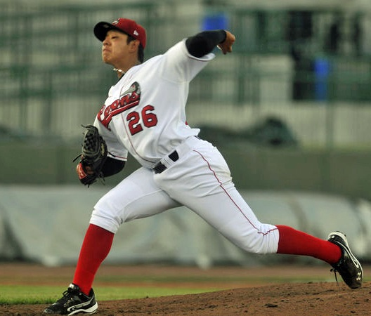 When Julio Urias made his debut with the Great Lakes Loons on May xx, 2013, he was 16 years old. (Photo courtesy of mlive.com)