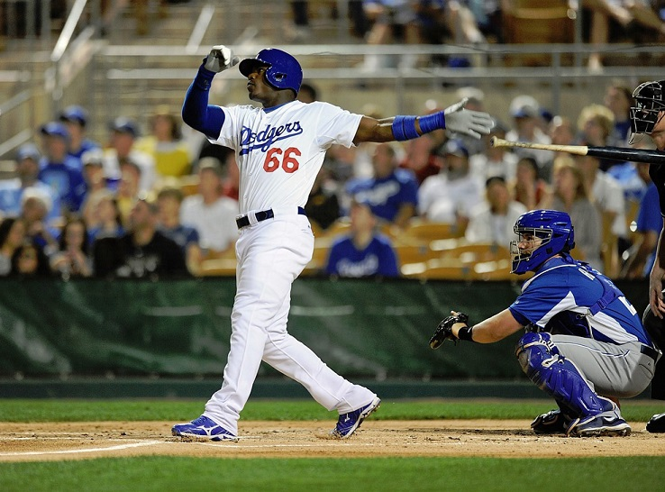 Puig's spring training 2013 is the stuff that legends are made of. (Photo credit - Norm Hall)