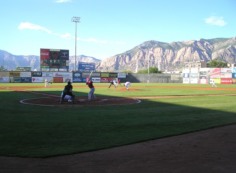 "The Raptors are blessed to play their games at beautiful Lindquest Field, which was voted as ""Best View"" in all of professional baseball. (Photo credit - Paul Hamann)"