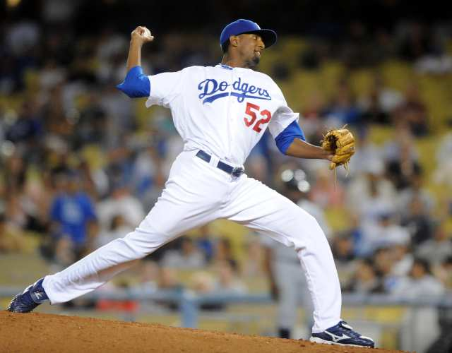 Many feel that McDonald was never given an opportunity to prove his value as a starting pitcher by the Dodgers. (Photo credit - Kirby-Lee)