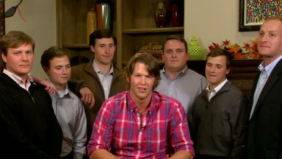 While several award finalists were in-studio at MLB Network's studios, Kershaw preferred to share the moment at his home with several of his closest friends. (Video courtesy of ESPN.com)